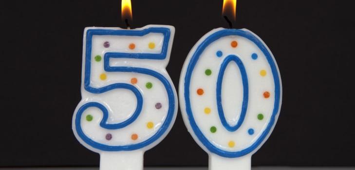 Красивое поздравление для женщины с 50 летием 162