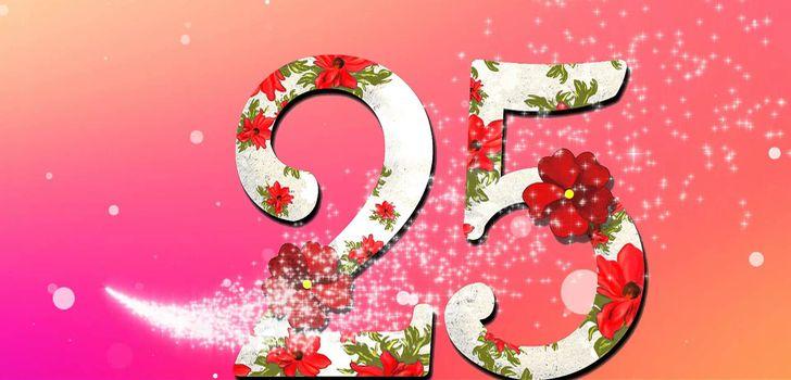 Поздравление девушке с юбилеем 25 лет 135