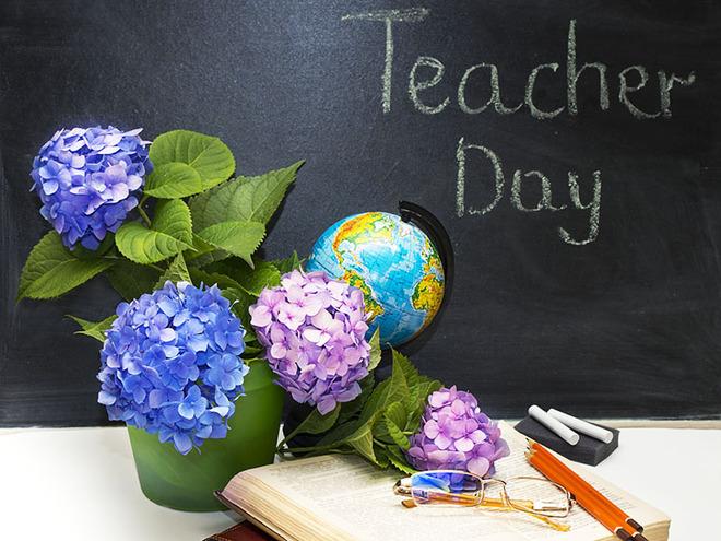 Поздравление на день учителя коллегам смешные 109